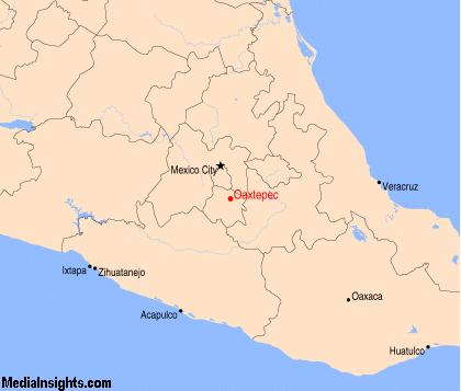 Mapa de Oaxtepec